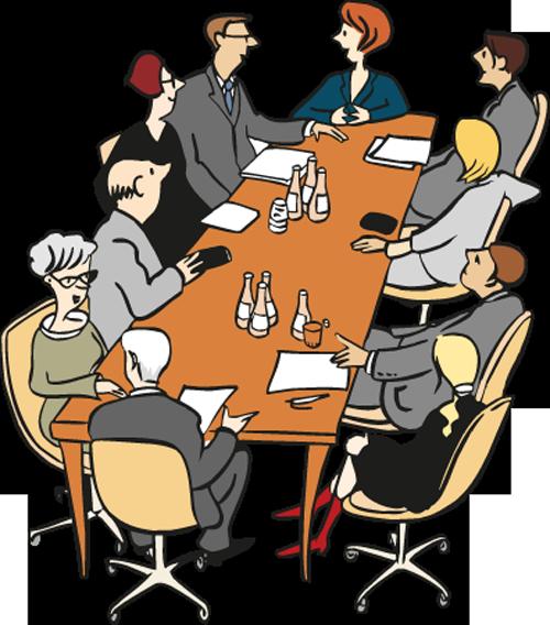Eine Gruppe von Menschen ist in einer Besprechung
