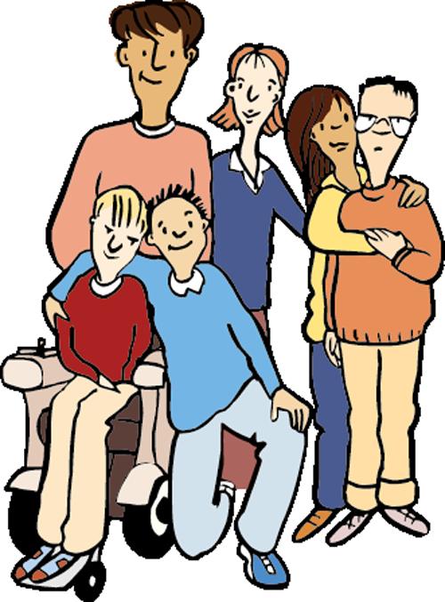 Eine Familie mit 4 Kindern