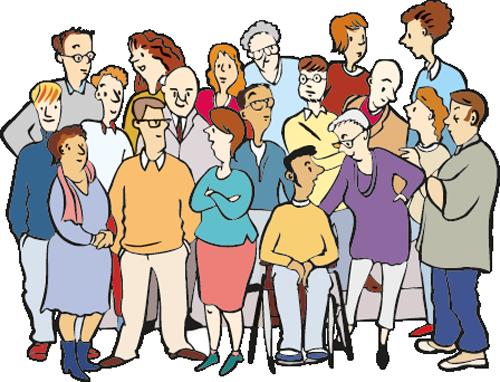 Eine Gruppe aus vielen Menschen