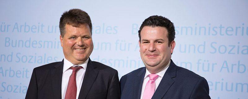 Jürgen Dusel mit Minister Hubertus Heil